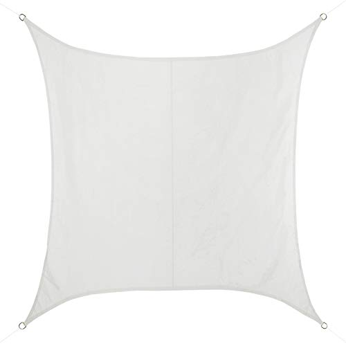 BB Sport Tenda Velo Sole 5m x 5m Cocco Quadrato Vela Sole Ombreggiante 100% PES Protezione Solare UV 30+ Parasole Giardino Esterni
