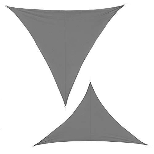 BB Sport Tenda Velo Sole 6m x 6m x 6m Granito Triangolare Vela Sole Ombreggiante 100% PES Protezione Solare UV 30+ Parasole Giardino Esterni