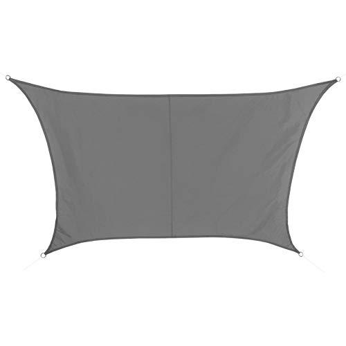 BB Sport Tenda Velo Sole Trapezio 3m / 4m x 2m Granito Vela Sole Ombreggiante 100% PES Protezione Solare UV 30+ Parasole Giardino Esterni