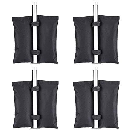 Brosyda Gazebo pesi Set di 4 pesi pesanti, grado industriale 600D pesi per gambe Gazebo, sacchi di sabbia per qualsiasi Pop Up Gazebo tende baldacchino all'aperto Patio