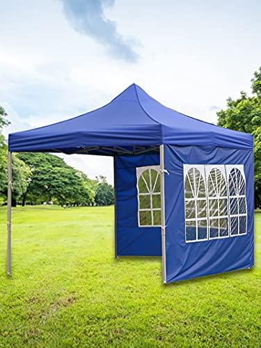 Copertura di ricambio per gazebo istantanea Canopy, tenda da giardino, tenda di ricambio per gazebo istantanea, tenda pieghevole per campeggio, vacanze, protezione solare (blu 3M)