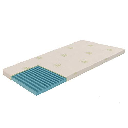 Dormiland Topper Correttore Materasso Singolo in Memory 80 x 190 Altezza 6 cm Memory Foam Sfoderabile Aloes Vera Magnetoterapia Dispositivo Medico