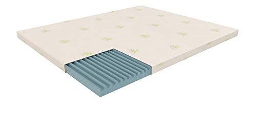 Dormiland Topper Correttore Materasso Singolo Misura Personalizzata in Memory 90 x 200 Altezza 4 cm Memory Foam Sfoderabile Aloe Vera Magnetoterapia Dispositivo Medico