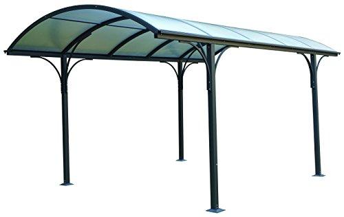 Eurobrico Tettoia Carport per Esterno in Policarbonato e Alluminio - 485x300x253H cm