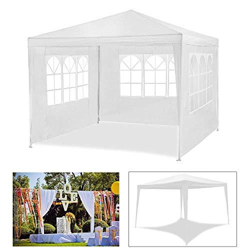 HG® Tenda da giardino 3x 3m, impermeabile, per campeggio, eventi, con tubi in acciaio, materiale stabile e di alta qualità