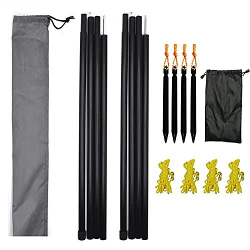 Hmseng 1set palo per vela ombreggiante campeggio accessori, Bacchette Ultraleggere di Sostegno per Tenda da Campeggio 50-200CM