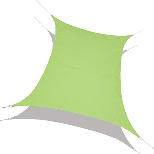 Laxllent Vela Ombreggiante, Rettangolo Tendalino Parasole in Poliestere 96.5% UV Block Impermeabile per Giardino Esterno Patio Party con Corda Libera