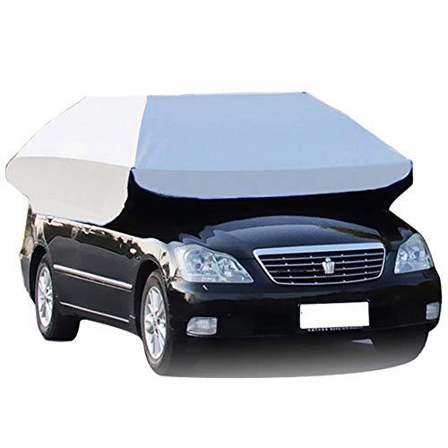 LIXIONG Ombrello Automatica per Auto All'aperto Folded Macchine Sole Ombra Portatile Mobile Posto Coperto Protezione Baldacchino Antifurto Impermeabile, 2 Dimensioni (Size : 350x190cm)