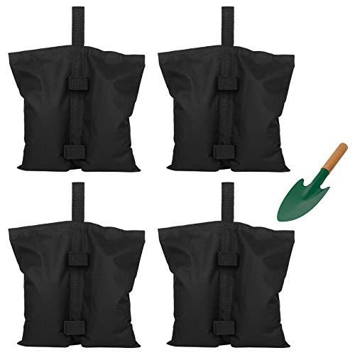 Lyneun 4 Pezzi Sacchi di Sabbia,Sacchetti per Pesi di Grado Industriale,Doppia Cucitura 600D Oxford Resistente Peso Gamba per Baldacchino Tenda da Sole a Scomparsa