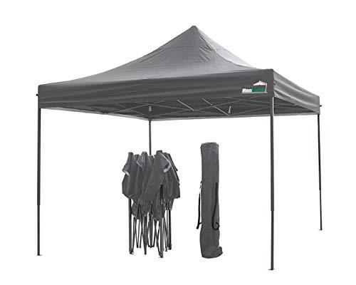 Maxx 3 x 3 m Pieghevole Fest Tenda Gazebo Pieghevole da Giardino Tenda Impermeabile Birra Tenda Struttura in Acciaio con Extra Spesso aste in Acciaio da Campeggio Spiaggia Antracite