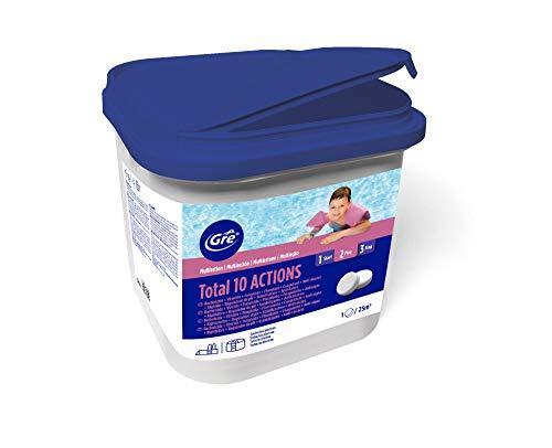 Multifunzione 10 azioni acqua piscina con cloro antialghe ph Multiazione, 5 Kg.
