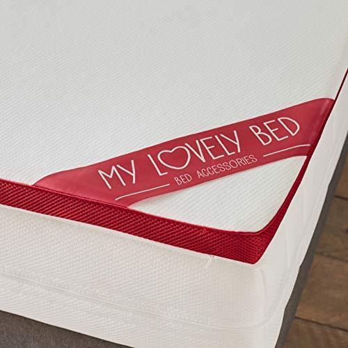 My Lovely Bed - Correttore Materasso Memory | Topper Memory Foam Matrimoniale - Matrimoniale (160x200 cm) - Altezza 5CM - Ergonomico - Rinnova il materasso
