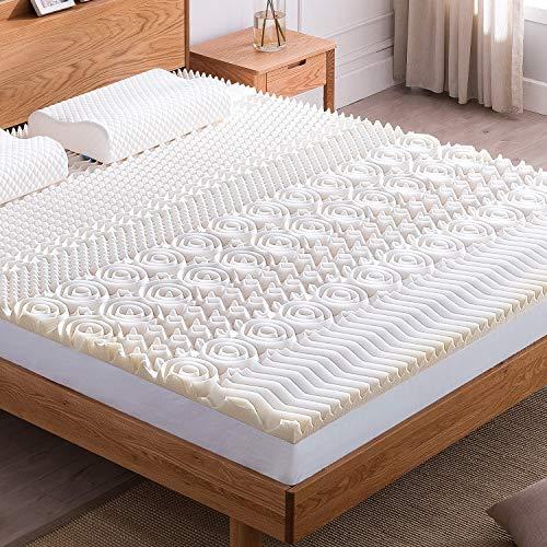 NOFFA memory foam topper coprimaterasso - Design ergonomico | Temperatura del sonno equilibrata 140 x 200 x 4 cm