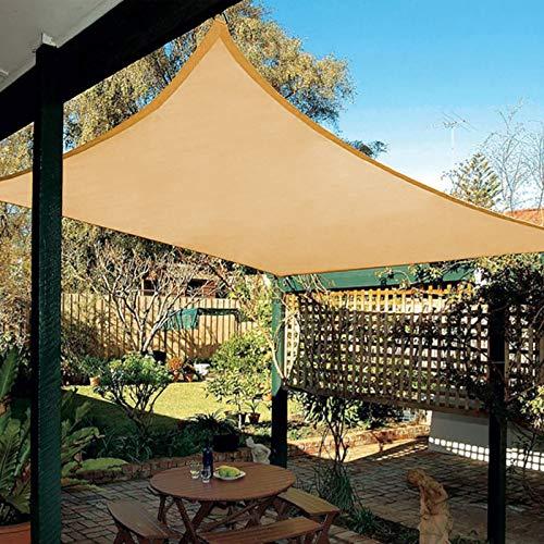 Patio Shack Tenda a Vela Impermeabile Rettangolare 2x3 m, Vela Ombreggiante Impermeabile 3x2, Tenda da Sole per Esterno, Giardino Terrazzo, Sabbia