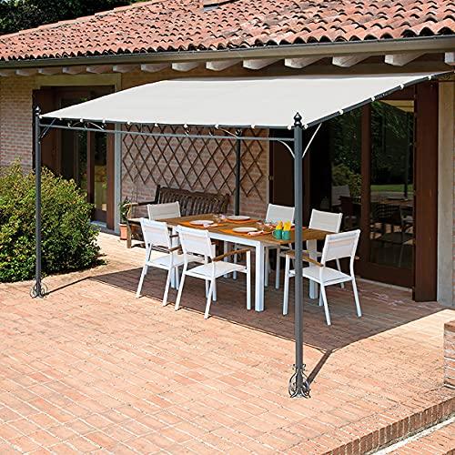Pergola per Verande e Giardini 4 x 3 Metri Gazebo Veranda con telo Idrorepellente Gazebo Pergola