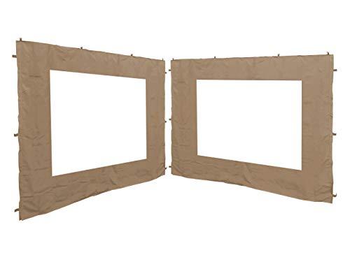 QUICK STAR 2 pareti Laterali per Gazebo da Giardino, Anticato, 3 x 3 m, Parete Laterale, Beige