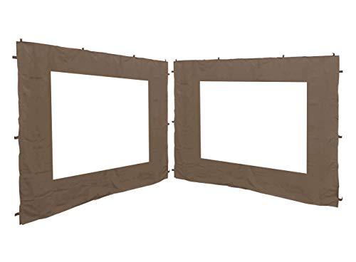 QUICK STAR 2 pareti Laterali per Gazebo da Giardino, Anticato, 3 x 3 m, Parete Laterale, Beige-grigio