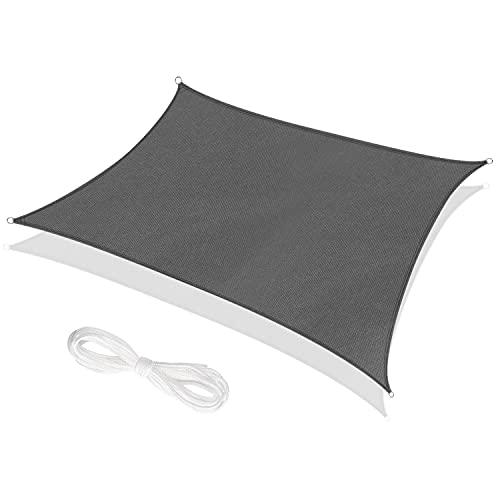 RATEL Tenda a Vela Triangolo 2 x 3 Metri Grigio, Tende da Sole Impermeabile, Protezione Raggi 95% UV Vela Parasole Ombreggiante, Adatto per Esterni, Terrazza, Giardino, Prato
