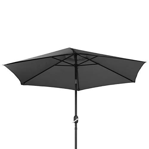 Ribelli Ombrellone Parasole ombrellone da Giardino ombrellone da Spiaggia Balcone Protezione dal Sole, colorazione:Grigio, Diametro:270 cm