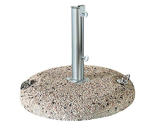 Scolaro Base in Cemento per ombrellone in graniglia 80 kg con Tubo 65 mm