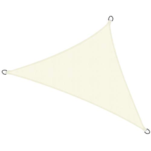 Sol Royal Tenda a Vela Impermeabile Triangolare 600x420x420 cm SolVision PS9 - Protezione Anti Raggi UV - Crema
