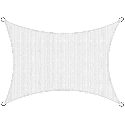 Sol Royal Tenda a Vela Traspirante 400x200 cm SolVision HS9 - Protezione Rettangolare Parasole e Anti UV - Bianco