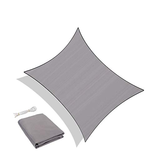 Sunnylaxx Tenda a Vela Rettangolare 3 x 5 Metri, Vela Ombreggiante Impermeabile e Resistente per Giardino, Balcone & Terrazza, Colore Grigio