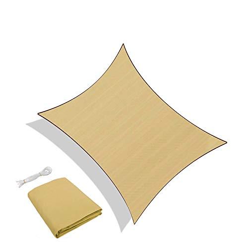 Sunnylaxx Tenda a Vela Rettangolare 3 x 5 Metri, Vela Ombreggiante Impermeabile e Resistente per Giardino, Balcone & Terrazza, Colore Sabbia
