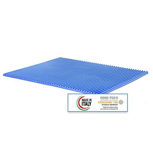Topper correttore Memory Foam Singolo Mis. 80x190 5cm Rivestimento Aloe Vera sfoderabile
