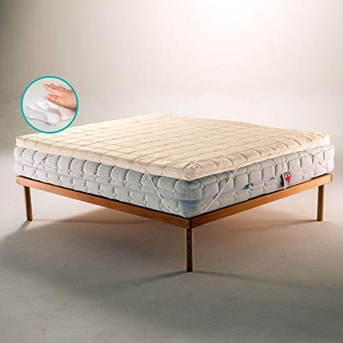 TOPPER in Memory Foam Correttore per Materasso o Sovramaterasso, ecologico e sfoderabile con Tessuto Bamboo matrimoniale 165x195