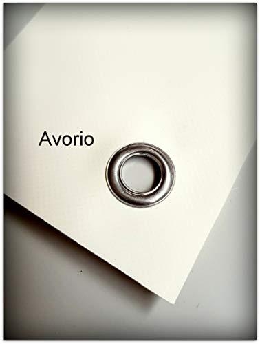 TUTTOPERGOLE Copertura con Fasce in PVC Pieno per Gazebo in Metallo (Cm 300 X Cm 50, Avorio)