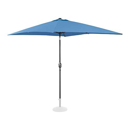 Uniprodo Ombrellone da Esterno Grande Ombrello da Giardino Uni_Umbrella_TSQ2030BL (Blu, Rettangolare, Inclinabile, 200 x 300 cm)