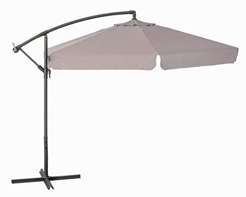 VERDELOOK Ombrellone da Giardino con Struttura in Metallo Verniciato e Copertura in Poliestere, Diametro 3 m