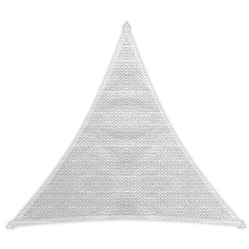 Windhager 10975 Tenda a vela Patio (3,6 x 3,6 x 3,6 m), bianco