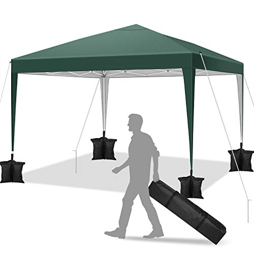 YUEBO Gazebo Richiudibile 3x3 m Pieghevole a Fisarmonica Gazebo Pieghevole Impermeabile Tendone da Esterno Tenda con Sacca