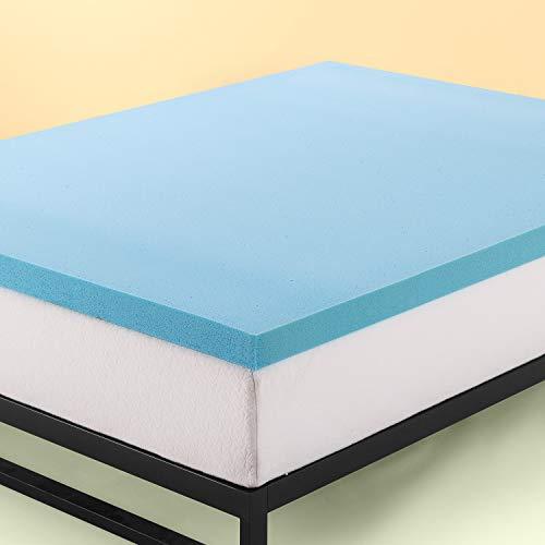 Zinus 5 cm Topper per materasso in memory foam in gel rinfrescante/ Schiuma certificata CertiPUR-US/ Topper in a box/ 80 x 190 cm