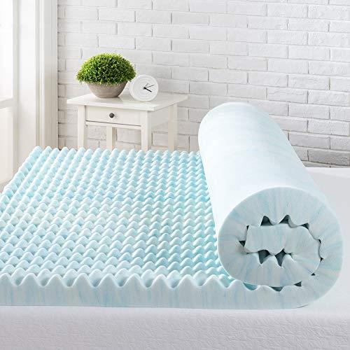 Zinus 7,6 cm Swirl Gel Memory Foam Topper, 100 x 200 cm